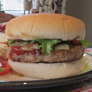 Farm Reared Pork Burgers - Home Made