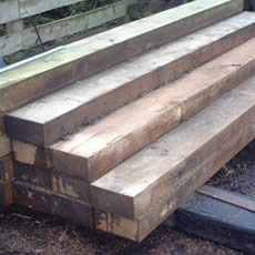 Tommy Topsoil - Products - Reclaimed & New Railway Sleepers - New
